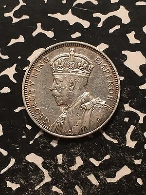 1936 Mauritius 1/4 Rupee Lot#7690 Silver! Nice Detail, Old Cleaning?