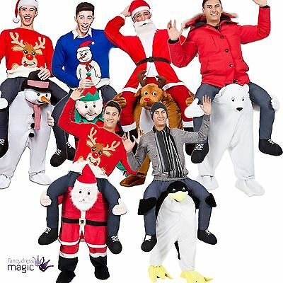 Adult Funny Novelty Carry Me Piggy Back Christmas Xmas Mascot Fancy Dress Outfit