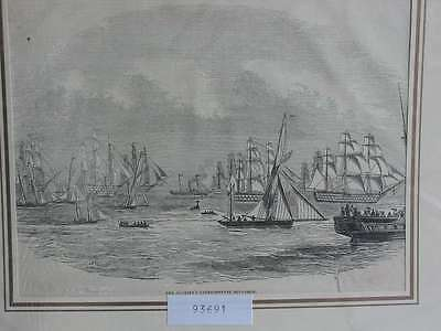 93691-Seefahrt-Schiffe-Ship-Mayesty Experimental Squadron-THolzstich-engraving