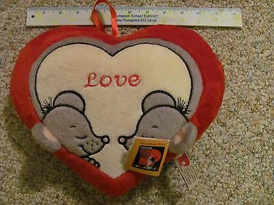 Plush Love Heart Morgenroth Made in Germany Valentine's Day Anniversary