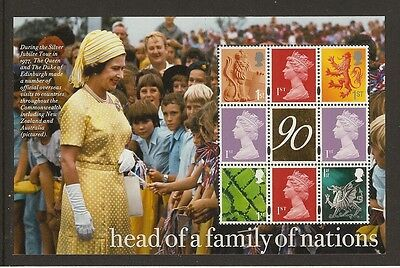GB Stamps: Queen's 90th Gold Foil Prestige Booklet Pane
