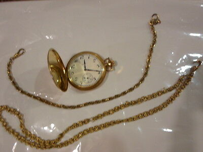 Antique  14 K Solid Gold Elgin Pocket Watch--WORKS, with two gold chains