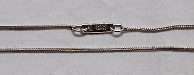 """Vintage Sterling Silver Davian Wheat Chain 15"""" Necklace"""