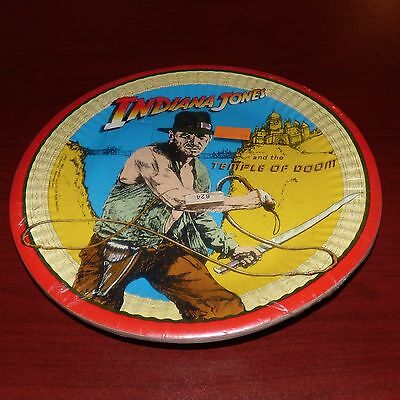 Indiana Jones And The Temple Of Doom 1984 Paper Plates Unopened Harrison Ford