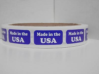 MADE IN THE USA 1/2x1 Sticker Label 500/rl