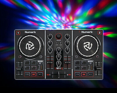 Numark Party Mix Virtual DJ Controller w/ Built In Light Show+Sound Card