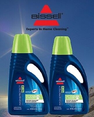 2 Bottle Bissell Pet Stain & Odour Formula Cleaning Shampoo 2x Consentrate 99K5E