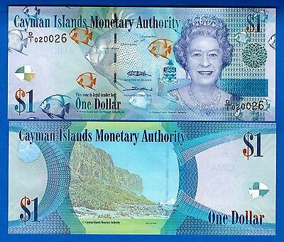 Cayman Islands P-38 One Dollar Year 2010 Uncirculated FREE SHIPPING