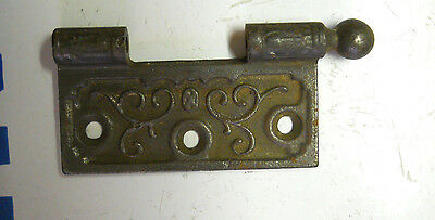 "OLD EASTLAKE HINGE PART 1870s 3 1/2 X 3 1/2"" CAST IRON"