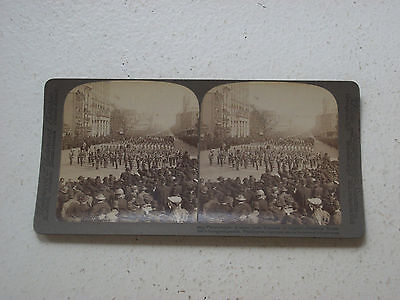 Stereoview – Underwood.  Teddy Roosevelt Inaugural Parade  Copyright 1905