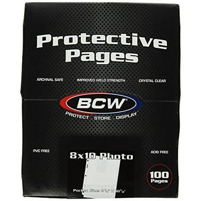 BCW Supplies Pro 8 X10 Photo Page (100 Count Box) New