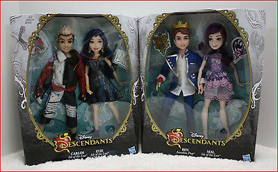 4 DOLL - Disney DESCENDANTS Villain Signatur  MAL & BEN + EVIE & CARLOS SOLD OUT