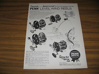1976 Print Ad Penn Fishing Reels 5 Models Shown Philadelphia,PA
