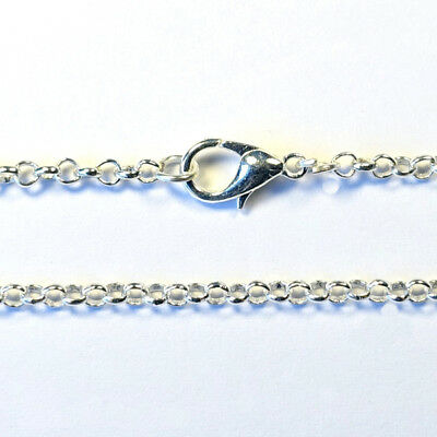 76cm long Ready Made ROLO BELCHER CHAIN NECKLACE pendant findings - SILVER