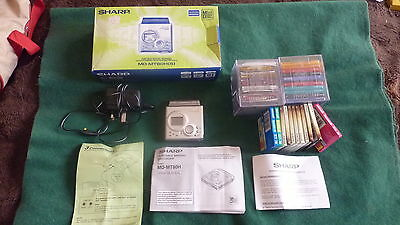 Sharp MD-MT80H (S) Mini Disc Player/recorder + 20 NEW DISCS & 10 USED