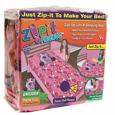 Zipit Friends Twin Bedding Set Pink Unicorn Perfect Zip It Friends New