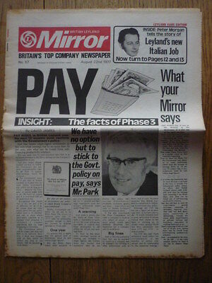BRITISH LEYLAND MIRROR, INTERNAL NEWSPAPER, NO. 57 jm