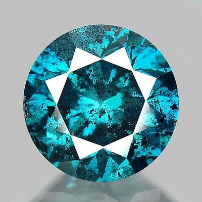 "0.17cts 3.7mm Fancy Blue Natural Loose Untreated Diamond ""SEE VIDEO"""