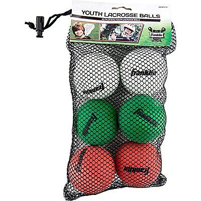 Franklin Sports Youth White Green & Red Mini Game Practice Lacrosse Balls 6-Pack