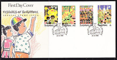 Singapore 1989 Festivals First Day Cover - Unaddressed