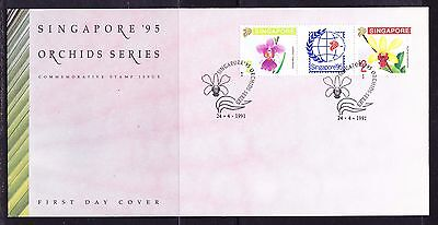Singapore 1991 Orchids First Day Cover