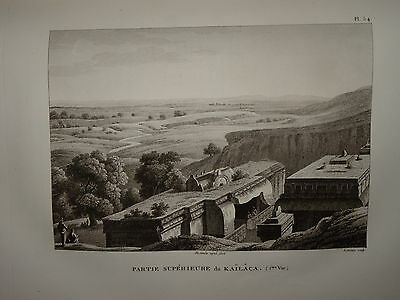 William DANIELL ENGRAVING VIEW OF KAILACA SIVA INDIA HINDOUSTAN TAMIL NADU 1820