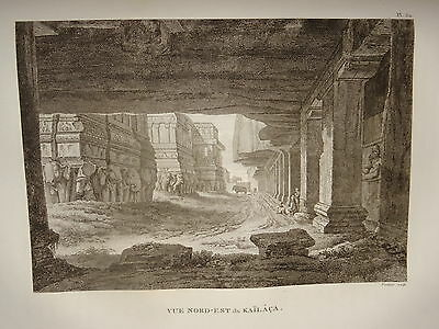 William DANIELL ENGRAVING VIEW KAILACA SIVA INDIA HINDOUSTAN TAMIL NADU 1820