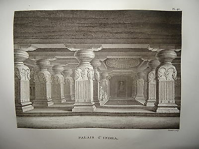 William DANIELL ENGRAVING TEMPLE INDRA INDIA HINDOUSTAN MADURAI TAMIL NADU 1820