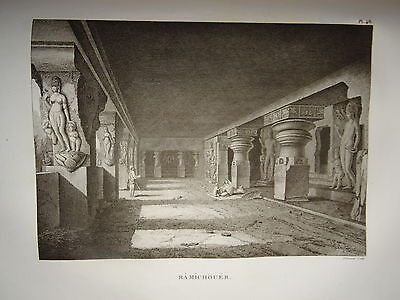 William DANIELL ENGRAVING TEMPLE RAMICHOUER INDIA HINDOUSTAN TAMIL NADU 1820