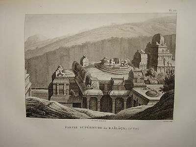 William DANIELL ENGRAVING VIEWS OF KAILACA SIVA INDIA HINDOUSTAN TAMIL NADU 1820