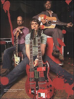 Flaming Lips Steven Drozd Gibson SG Double Neck Guitar  8 x 11 pinup photo