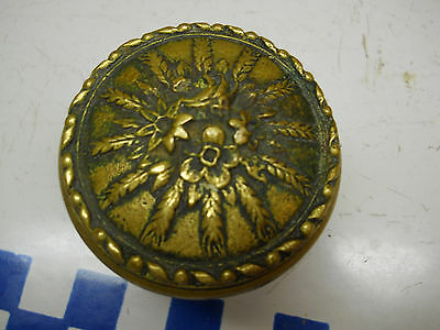 1 old bronze Eastlake small Floral Wheat Bouquet Door knob