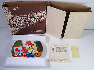 Walter Lantz Autograpehd Woody Woodpecker Plate with certificate 1981
