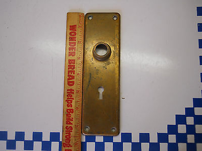 Old Cast Bronze Back Plate Door Knob Hardware