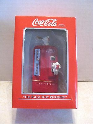 Coca Cola Enesco The Pause That Refreshes Christmas Ornament Mouse Soda Machine