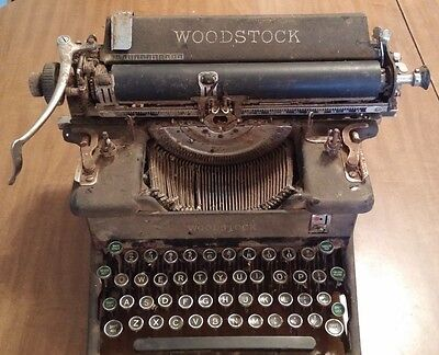 Antique Vintage Woodstock Typewriter, about 1940s, Great conversation piece gift