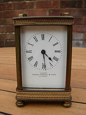 French Carriage Clock Henry Pidduck Four Glass 19th Century France Global Ship • £325.00