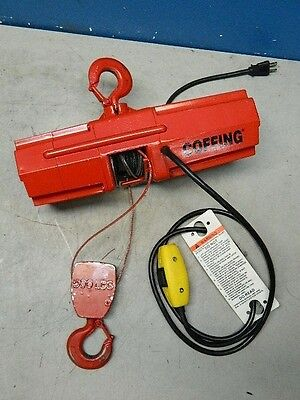 Coffing Electric Wire Rope Hoist 500 lb Capacity 10 Ft. Lift 07612W Parts/Repair