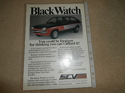 Vauxhall Chevette BLACK WATCH brochure Special Edition. Un-circulated.