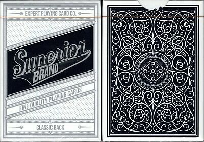 Superior Black Deck Playing Cards Poker Size EPCC Custom Limited Edition Sealed