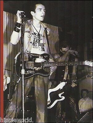 The Clash Joe Strummer Live with Fender Telecaster guitar 8 x 11 pin-up photo
