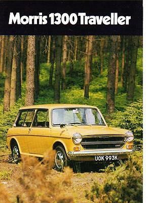 Morris 1300 Traveller Sales Brochure November 1971  For 1972 Model Year