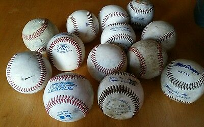 Lot 13 Rawlings MacGregor Nike Mixed Leather Official League BASEBALLS
