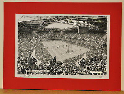 Millennium Stadium - Wales/Welsh Rugby. Limited Edition Art Print by Stuart Herd