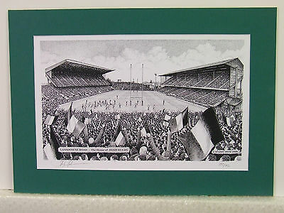 Lansdowne Road - Ireland Rugby. Limited Edition Stadium Art Print by Stuart Herd