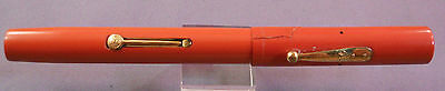Waterman #55 Red Hard Rubber Pen--SOLD AS PARTS ONLY-Flexible fine nib