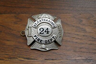 Obsolete St Catharnines Ontario Fire Department Cap Badge W Scully Montreal