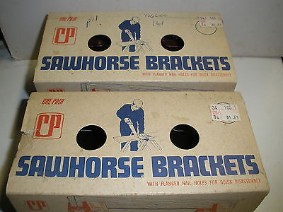lot of 2 pairs Sawhorse Brackets Crawford Products