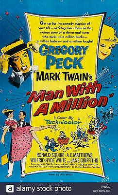 16mm Feature MAN WITH A MILLION-1954 British comedy.