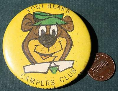 1972 Hanna Barbera License Yogi Bear's Campers Club Jellystone Park pin-VINTAGE!